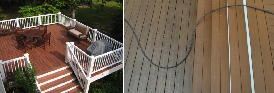 Wood Composite Decking Material Cleaning